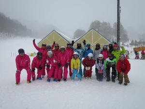 スキースクール集合写真